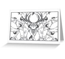 stag in nature cold Greeting Card