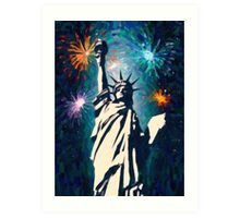 4th of July Fireworks 2 Art Print