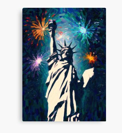 4th of July Fireworks 2 Canvas Print