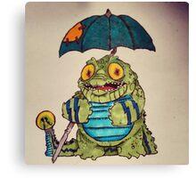 Crocodoodle Canvas Print
