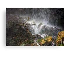 Beneath The Waterfall Canvas Print
