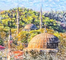 Eyup Mosque art 2 by Adam Asar
