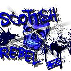 Scottish Rebel Skull Design  by Sookiesooker