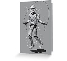 STORMTROOPER SKIPPING Greeting Card