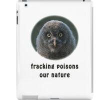 Helpless Little Great Grey Owl iPad Case/Skin