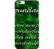 ~boundary~ (snippet) iPhone Case/Skin
