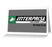 Enterprise Rent-A-Shuttle Greeting Card