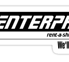 Enterprise Rent-A-Shuttle Sticker