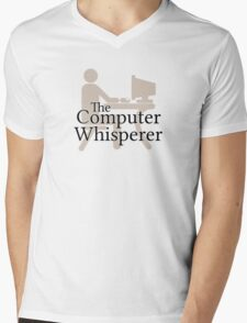 The Computer Whisperer Mens V-Neck T-Shirt