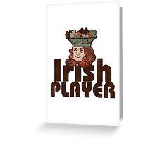 Irish player Greeting Card