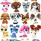 Littlest Pet Shop Dog Collage by JCMPhotos