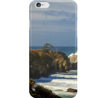 Breaking Waves At Yaquina Head Lighthouse iPhone Case/Skin