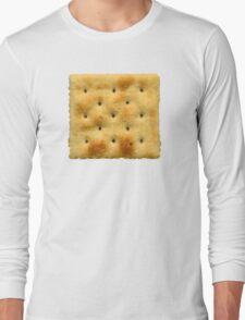 White Saltine Soda Cracker Long Sleeve T-Shirt