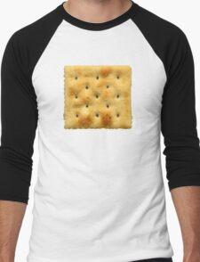 White Saltine Soda Cracker Men's Baseball ¾ T-Shirt