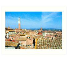 Siena Roofs Art Print
