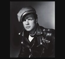 Marlon Brando the Wild One 1953 by JoAnnFineArt