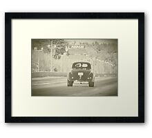 Willys drag car Framed Print