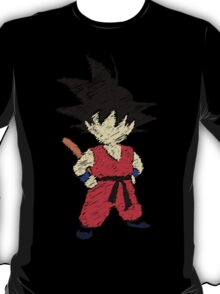 Kid Goku Drawing T-Shirt