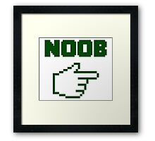 I'm With The Noob Newbie Framed Print