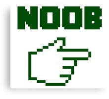 I'm With The Noob Newbie Canvas Print