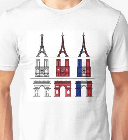 France_icons_outline Unisex T-Shirt