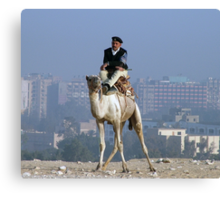 Policeman on a Camel Canvas Print