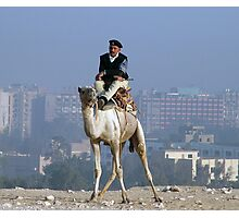 Policeman on a Camel Photographic Print