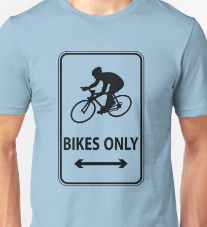 Road Bikes Only (Transparent) Unisex T-Shirt