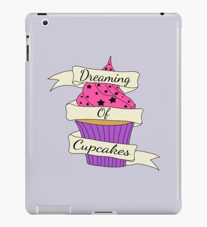 Dreaming of cupcakes iPad Case/Skin