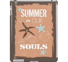 Summer quote poster the beach mood iPad Case/Skin