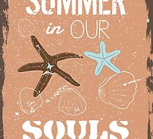 Summer quote poster the beach mood by vinainna