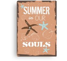 Summer quote poster the beach mood Canvas Print