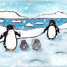 Penguin Family by AnnaBaria