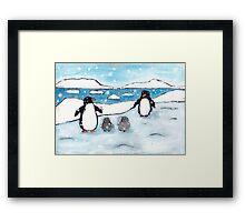 Penguin Family Framed Print