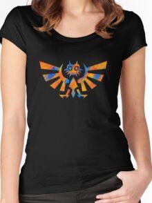 Majora's Crest Orange Women's Fitted Scoop T-Shirt