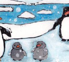 Penguin Family Sticker