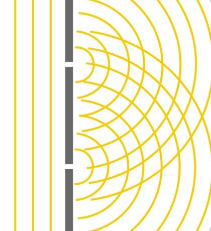 Double Slit Light Wave Particle Science Experiment Sticker