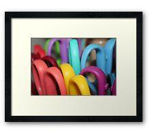 Rainbow Scissors  Framed Print