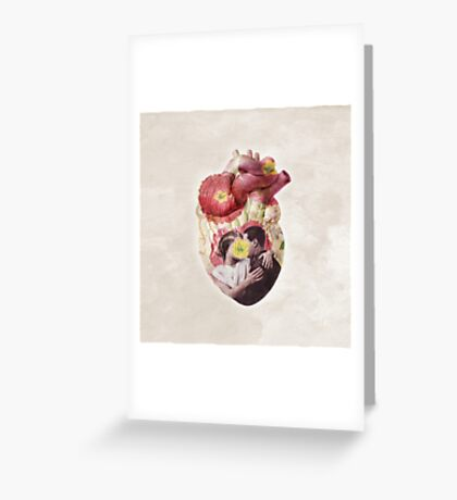 You Are In My Heart - floral version Greeting Card