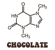 Scientific Chocolate Element Theobromine Molecule Photographic Print
