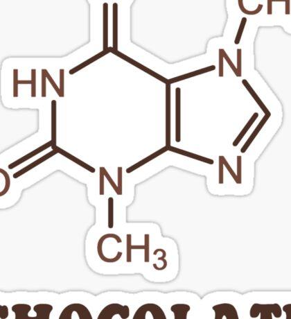 Scientific Chocolate Element Theobromine Molecule Sticker