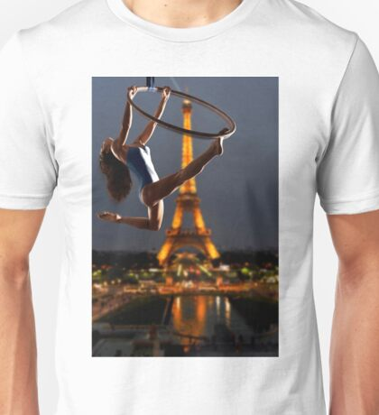 Acrobatics over Paris Unisex T-Shirt