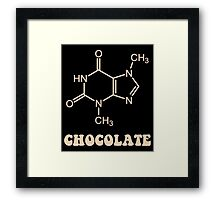 Scientific Chocolate Element Theobromine Molecule Framed Print
