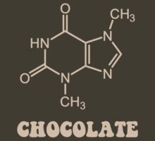 Scientific Chocolate Element Theobromine Molecule by TheShirtYurt