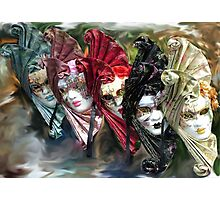 Carnival Masks Venice Photographic Print
