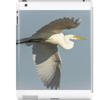 Close up of Great Egret in Flight iPad Case/Skin