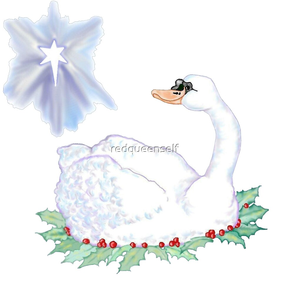 Christmas Swan by redqueenself
