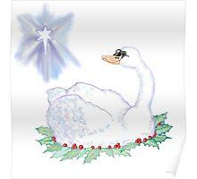 Christmas Swan Poster