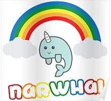 The Cutest Narwhal Poster