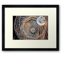 White Bird Cage  Framed Print
